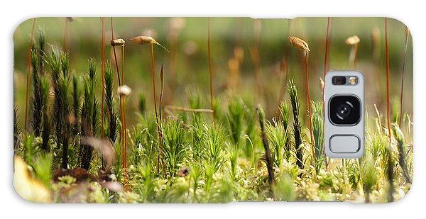Scenery Galaxy Case - Blooming Moss In The Forest Macro by Alla Shcherbak