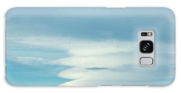Blue And White Clouds Galaxy Case
