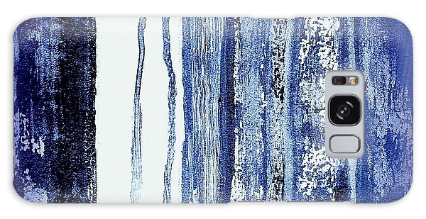 Blue And White Rainy Day Galaxy Case