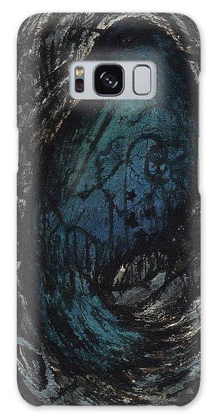 Galaxy Case - Blue Bird by Rachel Christine Nowicki