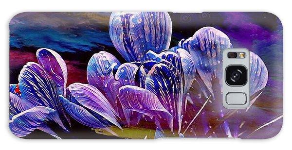 Blue Bloom Galaxy Case