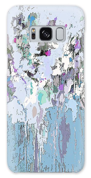 Blue Bloom II Galaxy Case