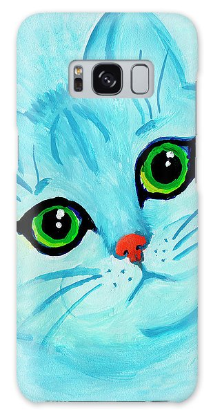 Blue Cat Galaxy Case