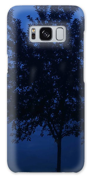 Blue Cherry Tree Galaxy Case
