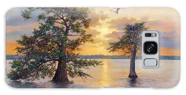 Old Florida Galaxy Case - Blue Cypress Sunset by Laurie Snow Hein