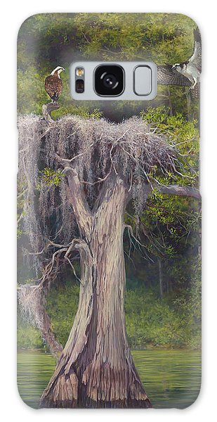 Old Florida Galaxy Case - Blue Cyprus Lake by Laurie Snow Hein