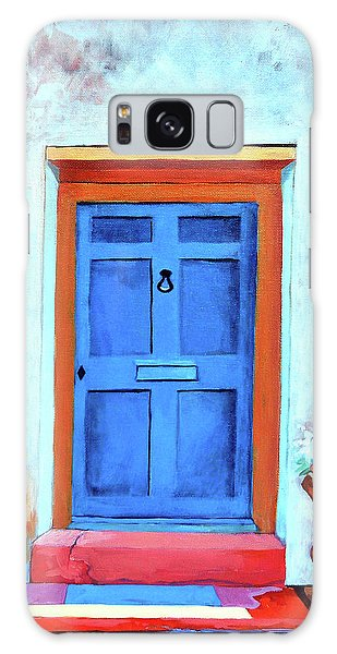 Old Florida Galaxy Case - Blue Door St. Augustine by Catherine Twomey