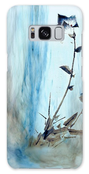 Blue Flower Abstract Galaxy Case