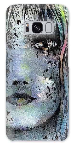 Galaxy Case - Blue Girl by Rachel Christine Nowicki