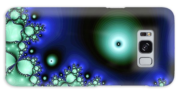 Blue Glowing Bliss Abstract Galaxy Case