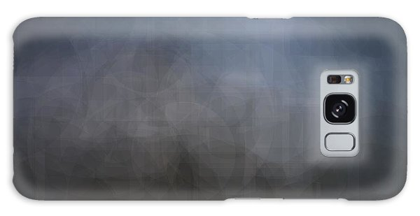 Blue Gray Abstract Background With Blurred Geometric Shapes. Galaxy Case