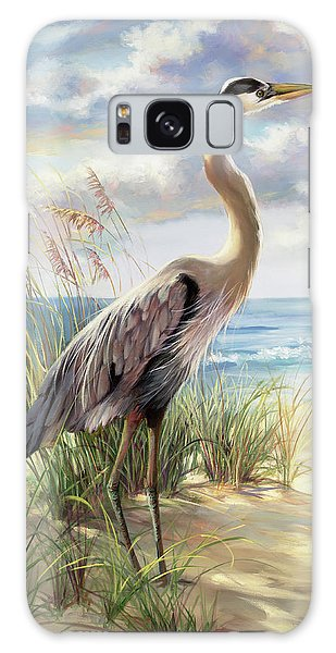 Herons Galaxy Case - Blue Heron Right by Laurie Snow Hein