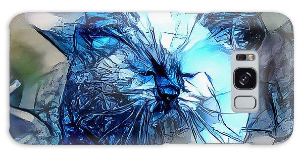Blue Himmy Cat Galaxy Case