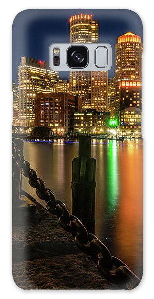 Blue Hour At Boston's Fan Pier Galaxy Case