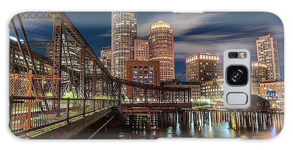 Blue Hour In Boston Harbor Galaxy Case