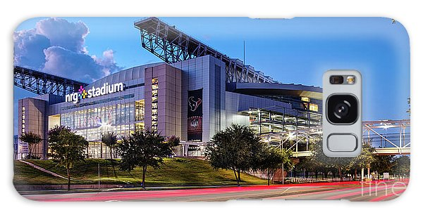 Blue Hour Photograph Of Nrg Stadium - Home Of The Houston Texans - Houston Texas Galaxy Case