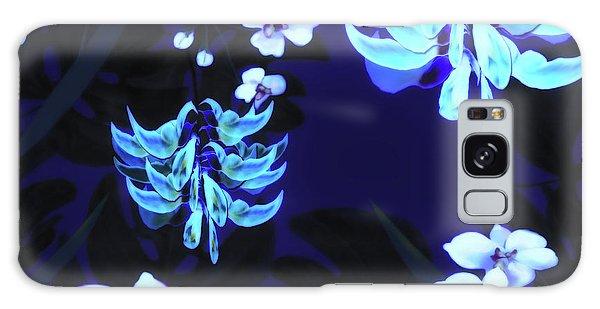Blue Jungle Floral Galaxy Case