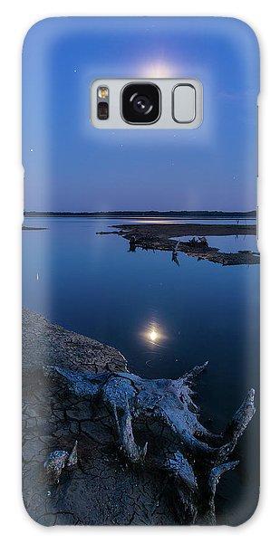 Blue Moonlight Galaxy Case