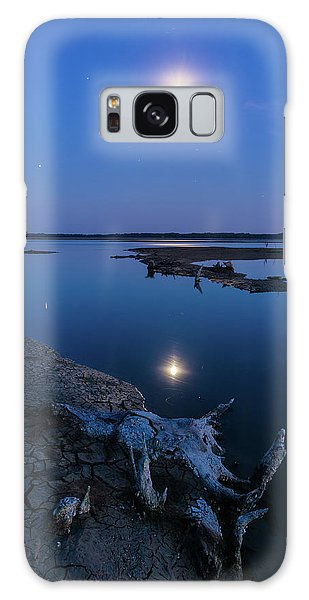 Galaxy Case featuring the photograph Blue Moonlight by Davor Zerjav