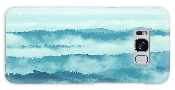 Blue Ridge Mountains Layers Upon Layers In Fog Galaxy Case