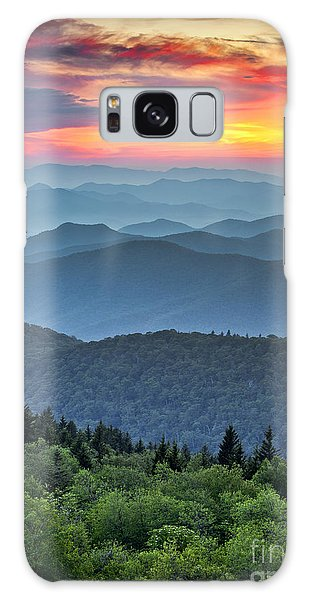 United States Galaxy Case - Blue Ridge Parkway Scenic Landscape by Dave Allen Photography