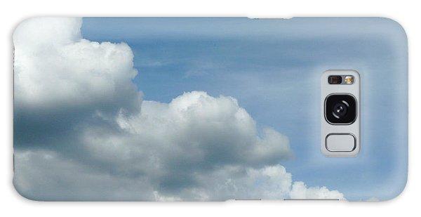 Blue Sky, White Clouds Galaxy Case