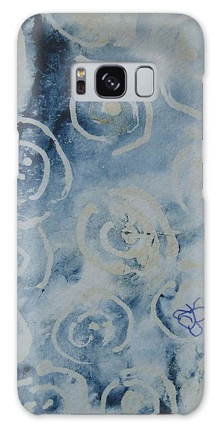 Blue Spirals Galaxy Case
