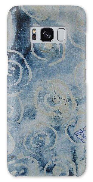 Blue Spirals Galaxy Case