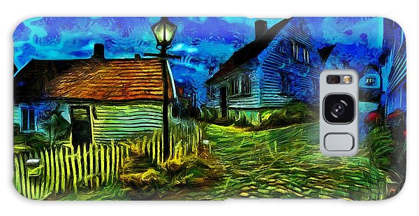 Galaxy Case featuring the painting Blue Town by Harry Warrick