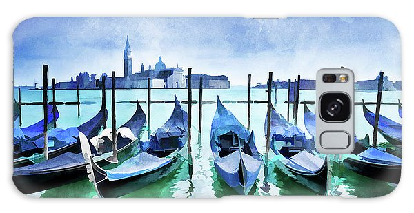 Fireworks Galaxy Case - Blue Venice by Delphimages Photo Creations
