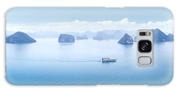 Travel Destinations Galaxy Case - Blue Water And Sky Aerial View Panorama by Banana Republic Images