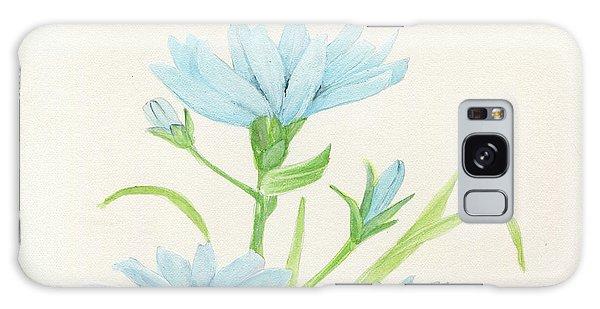 Blue Wildflowers Watercolor Galaxy Case
