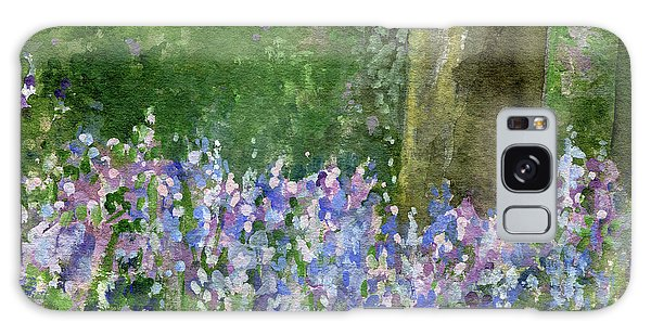 Bluebells Under The Trees Galaxy Case