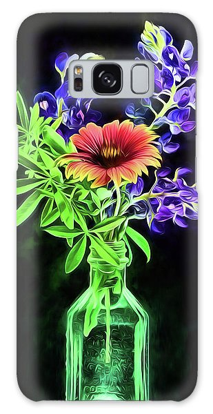 Bluebonnets And Indian Blanket Still Life Galaxy Case