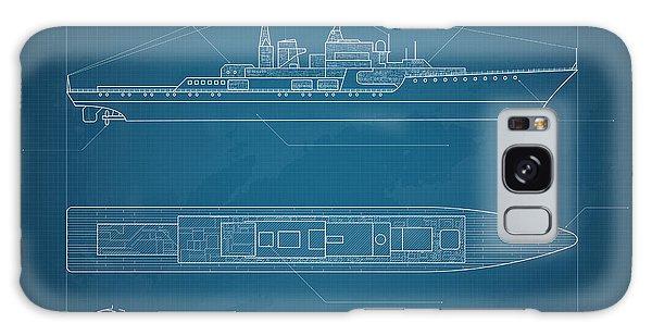 Shipping Galaxy Case - Blueprint Ship by Cornflower