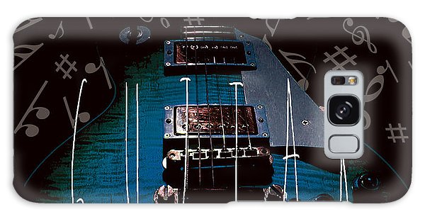 Galaxy Case featuring the photograph Blues Guitar Music Notes by Guitar Wacky