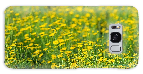 Summertime Galaxy Case - Blur Of Yellow Flowers by Love studio