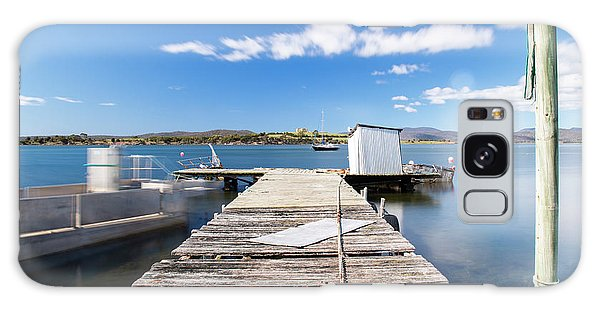 Galaxy Case featuring the photograph Boat Jetty Found On Bruny Island In Tasmania, Australia. by Rob D