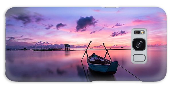 Boat Under The Sunset Galaxy Case