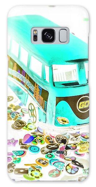 Old Car Galaxy Case - Boho Blue by Jorgo Photography - Wall Art Gallery