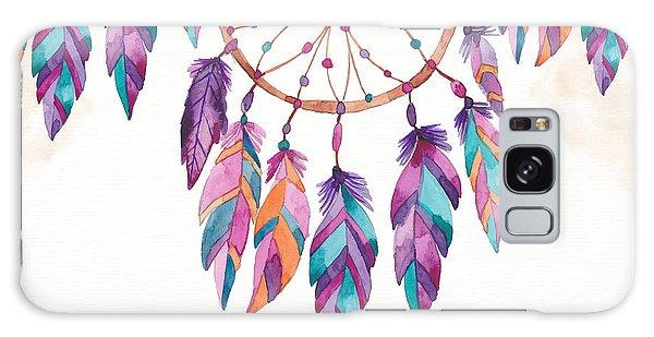 Boho Dreamcatcher - Boho Chic Ethnic Nursery Art Poster Print Galaxy Case