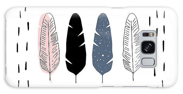 Boho Feathers - Boho Chic Ethnic Nursery Art Poster Print Galaxy Case