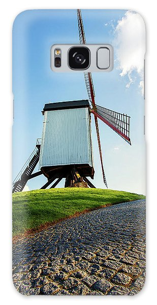 Galaxy Case featuring the photograph Bonne Chiere Windmill Bruges Belgium by Nathan Bush