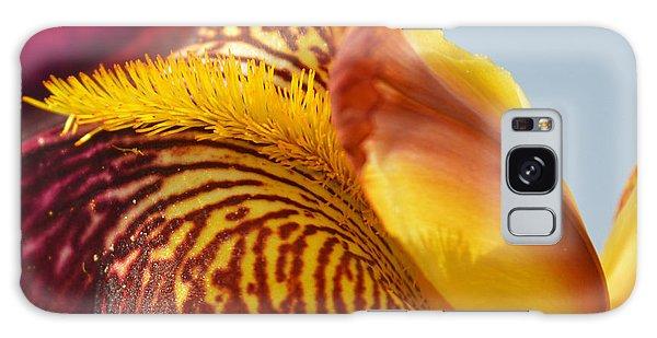 Bright Colors Galaxy Case - Bordeaux Iris Flower - Close-up by Sattva78