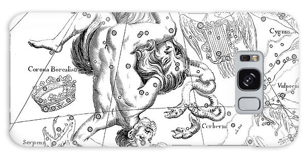 Pen And Ink Drawing Galaxy Case - Boreal Constellations Of Hercules And Cerberus by Johann Hevelius