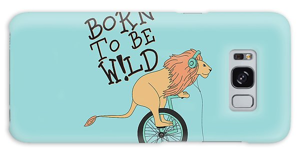 Born To Be Wild - Baby Room Nursery Art Poster Print Galaxy Case