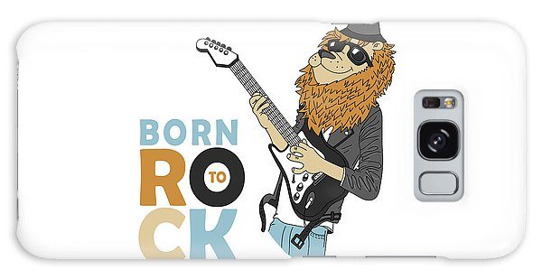 Born To Rock - Baby Room Nursery Art Poster Print Galaxy Case