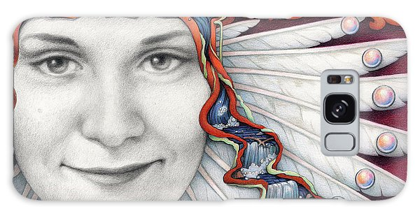 Waterfall Galaxy Case - Borne On The Wings Of Her Dreams by Amy S Turner