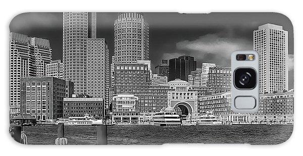 Boston Harbor Skyline Galaxy Case