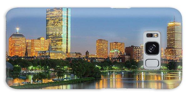 Boston Night Skyline II Galaxy Case